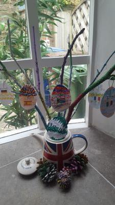 A fantastic Easter tree by Grayson