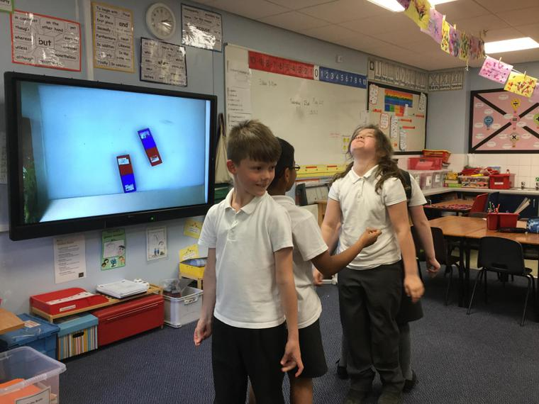 We did drama to show repel and attract!