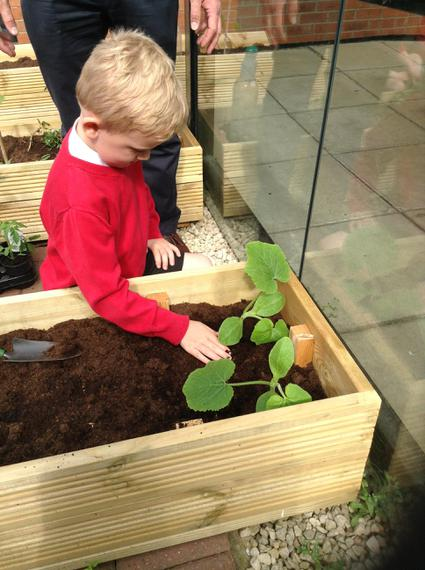 we all had a go at planting...