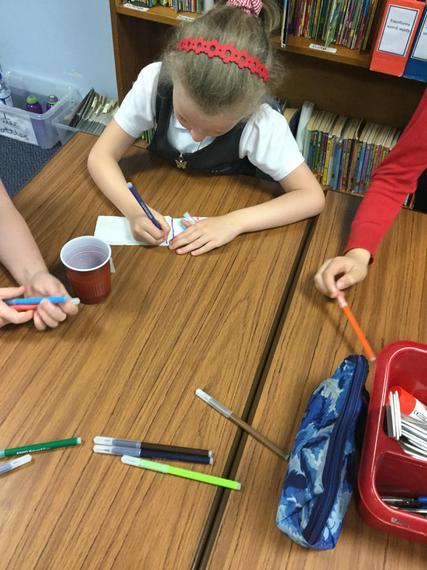 Here were were preparing the tissue paper...