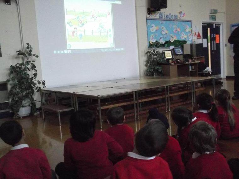 and watched a video about fire safety too.