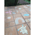 More chalk drawings