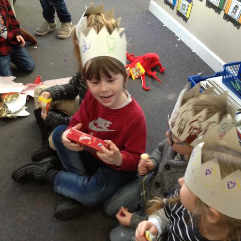 And the winner of pass the parcel is......