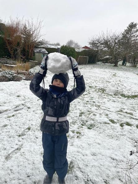 Ed having fun in the snow!