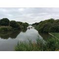 Enjoying the view of Hythe canal.