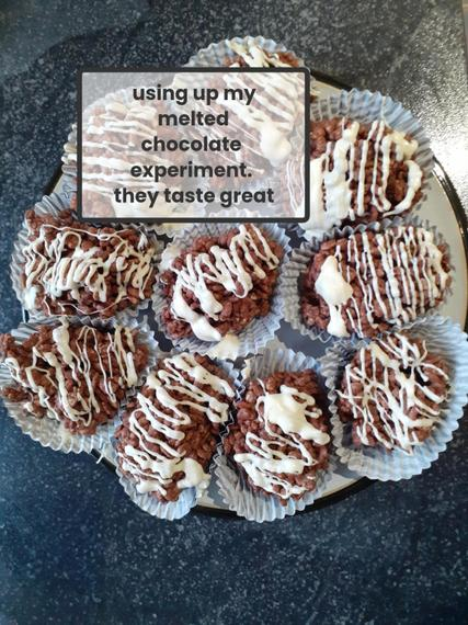 Charlotte W made some tasty treats with the chocolate from her science experiment!