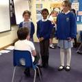 Acting out shortened Shakespeare plays.