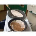 Cooking the chapattis.