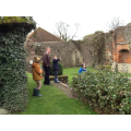 Exploring the castle ruins...