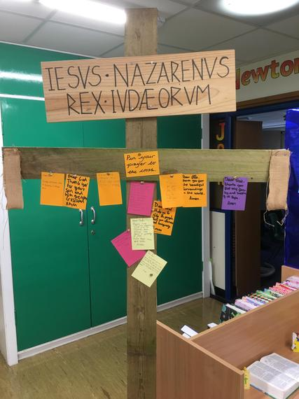 Year 5 and 6 - Bring your prayers to the cross.
