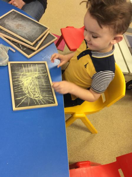 Mark making with chalks