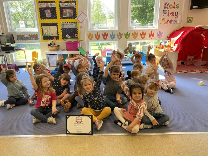 Our Pre-School was awarded it's SASP certificate to show we do lots of physical activities