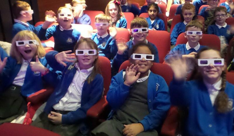 Wearing our 3D glasses!