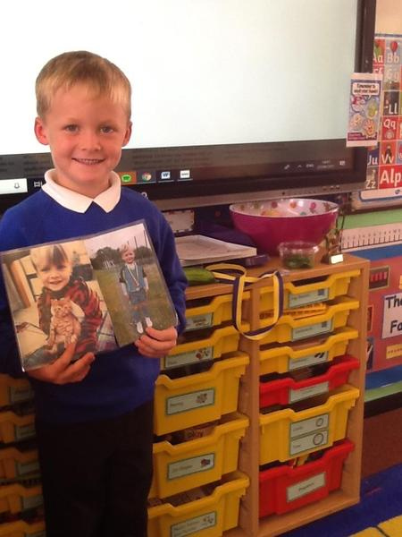 We heard all about Football, vegetables and his beloved pet 'Billy'.