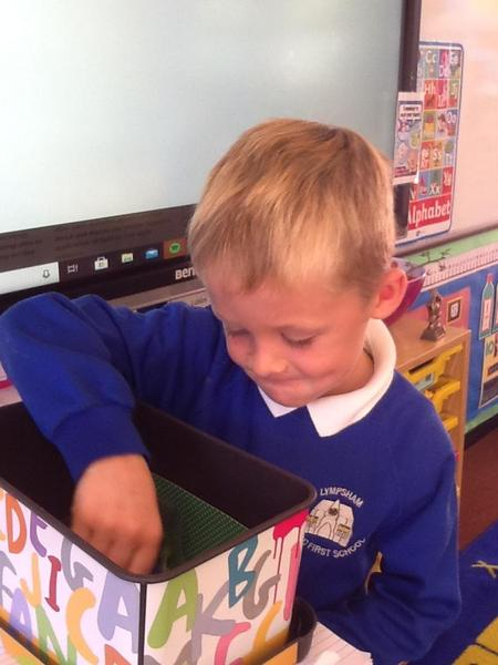 Our first recipient of the talking box did an amazing job of sharing his news.