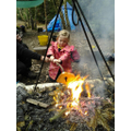 Making a toast in Forest School