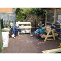 Mud kitchen in Nursery