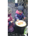 Pizza making in Forest School