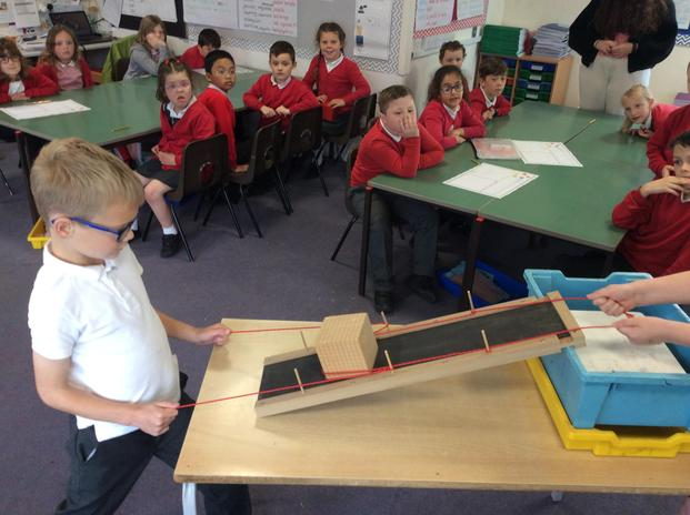 In Year 3 and 4 the children explored how pulleys helped the Egyptians.