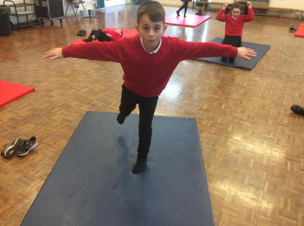 Using a point (foot) to balance