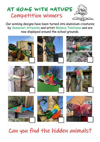 Use this sheet to find the hidden animals around the school grounds