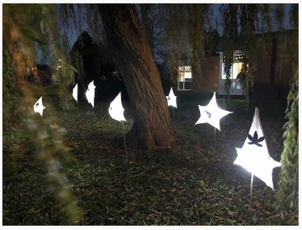 The lanterns were displayed as part of Taunton's Window Wanderland