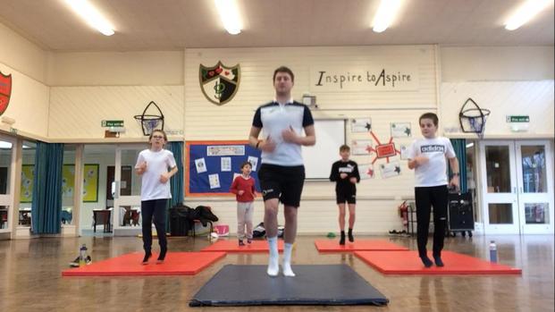 Fitness Fun with Mr Hamblin.