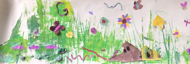 We were inspired by the illustrations of Eric Carle.