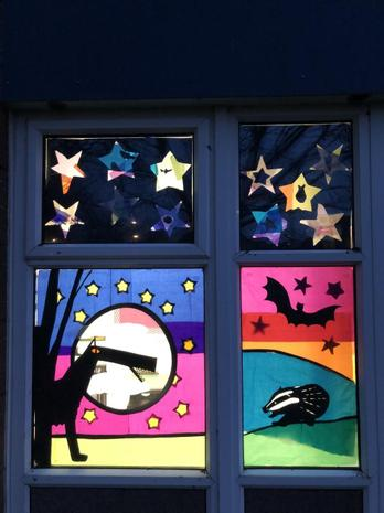 Rowan's Window inspired by nocturnal animals
