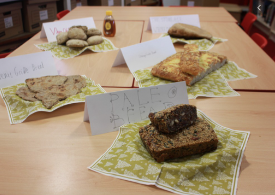 They also had a go at baking and cooking.