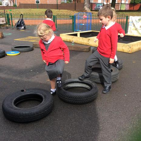 Exploring balancing and how to move in and out of different equipment