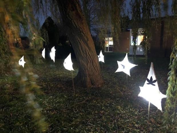 The lanterns were displayed as part of Taunton's Window Wanderland.