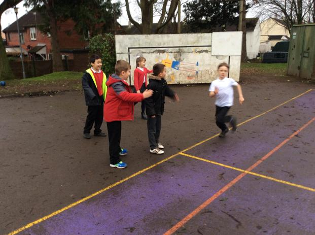 Teamwork during our London Marathon Challenge. to raise money for the school and our trip