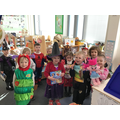 The children loved dressing up as book characters.