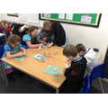 Decorating biscuits for World Book Day!