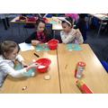 Decorating biscuits on World Book Day!