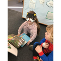 They enjoyed sharing their books.