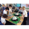 Creating volcanoes in art