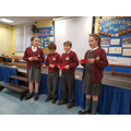 Some of our Eco-Council giving a presentation