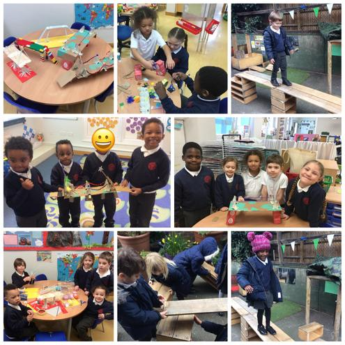 As part of British Science Week, Reception made bridges using a range of materials.
