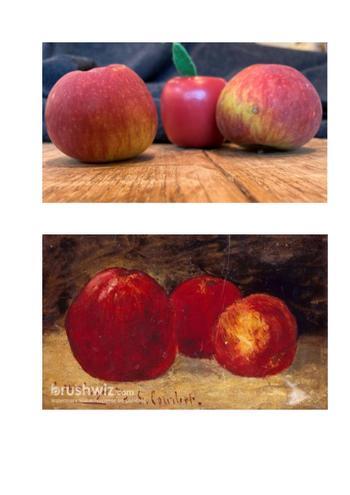 Raffery got creative with fruit.