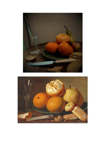 Toby got creative with items from the kitchen to recreate this still life image.