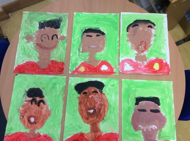 In Reception, as part of Black History Month we learnt about Marcus Rashford.