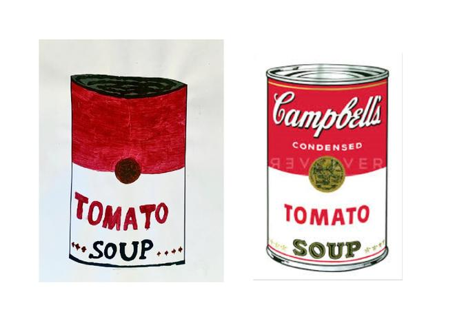 Tom did an amazing job recreating this Andy Warhol piece.