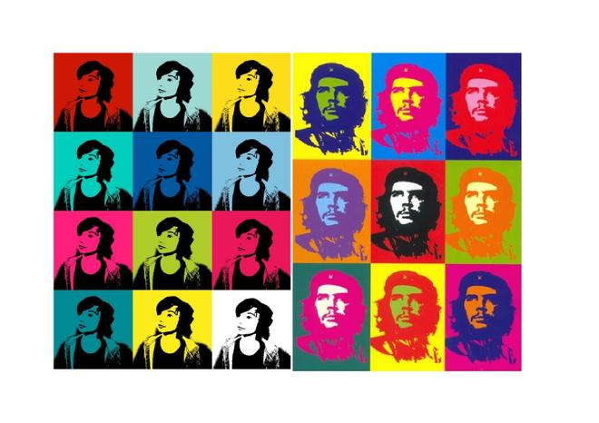Jacob used his computer skills to recreate this famous print of Che Guevara recrate