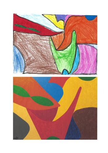 Sam used some beautiful colours for his piece.