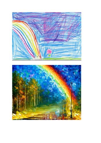 Afremov's Rainbow, was brought to life by Jada-Kay