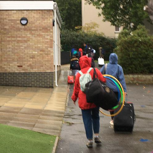 They're off! Year 6 off on their delayed residential week to Rippledown.
