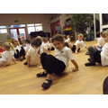 Moving like a crab to develop co-ordination