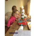 Daisy enjoyed making her own homes for the worms!